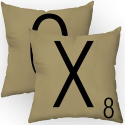 Letters of Affection Throw Pillow