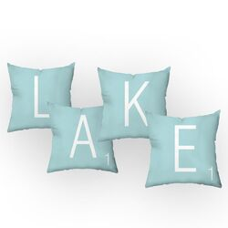 Letters of the Lake Throw Pillow Set