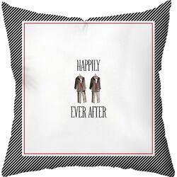 Wedding Two Tuxes Throw Pillow