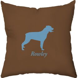 Personalized Rottweiler Poly Cotton Throw Pillow