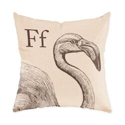 Flamingo Poly Cotton Throw Pillow
