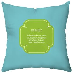 Personalized Family Tree Synthetic Throw Pillow