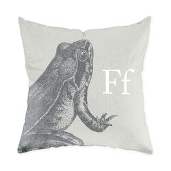 Frog Poly Cotton Throw Pillow