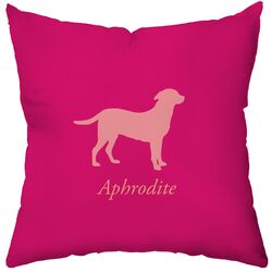 Personalized Labrador Poly Cotton Throw Pillow