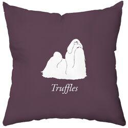 Personalized Shih Tzu Poly Cotton Throw Pillow