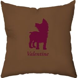 Personalized Yorkshire Terrier Poly Cotton Throw Pillow