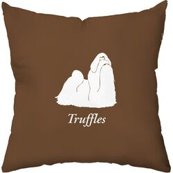 Personalized Shih Tzu Poly Cotton Throw Pillow