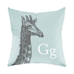 Giraffe Polyester Throw Pillow