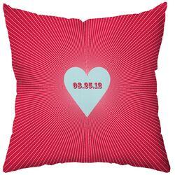 Personalized Circa Polyester Throw Pillow
