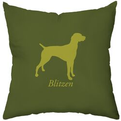 Personalized German Pointer Poly Cotton Throw Pillow