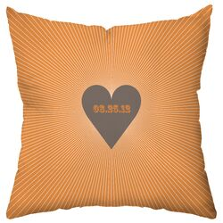 Personalized Circa Polyester Throw Pillow