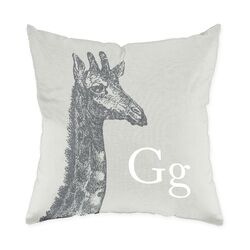 Giraffe Poly Cotton Throw Pillow