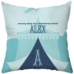 Personalized Tingle Poly Cotton Throw Pillow