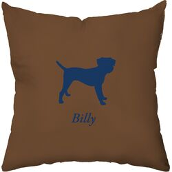 Personalized Border Terrier Poly Cotton Throw Pillow