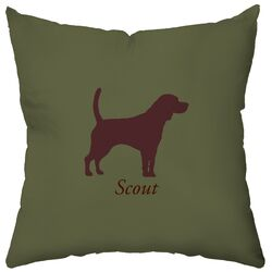 Personalized Beagle Poly Cotton Throw Pillow