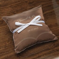 Personalized Dianthus Satin Ring Pillow