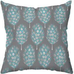 Guinea Feathers Polyester Outdoor Throw Pillow