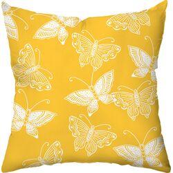 Flutter Poly Cotton Throw Pillow
