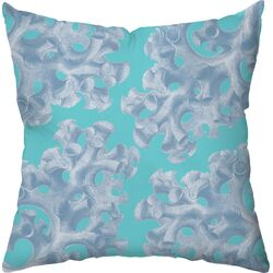 Coral Poly Cotton Outdoor Throw Pillow