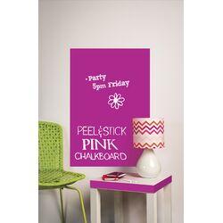 Peel & Stick Big Pink Chalkboard