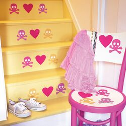 Candy Skulls Peel and Stick Vinyl Wall Decals