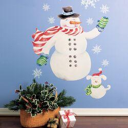 Snowman Vinyl Holiday Wall Mural