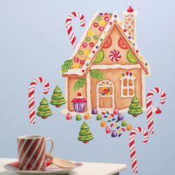 Gingerbread House Vinyl Holiday Wall Mural