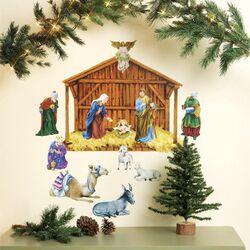 Nativity Vinyl Holiday Wall Mural