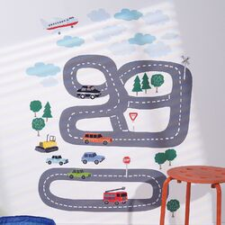 Around Town Interactive Vinyl Peel and Stick Wall Mural