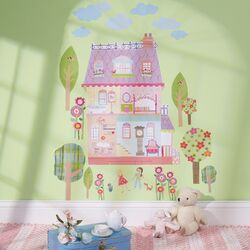 Play House Interactive Vinyl Peel and Stick Wall Mural