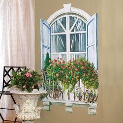 Paris Window Wall Mural