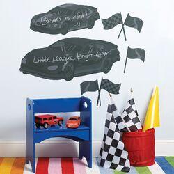 Fast Cars Chalkboard Mural
