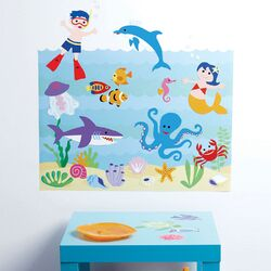 Kids Aquarium Play Wall Mural