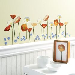 Springtime Poppies Vinyl Wall Decals