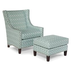 Transitional Chair and Ottoman