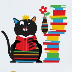 Piccolo Smarty Cat Wall Decal