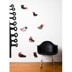Spot Lil' Birds Wall Decal