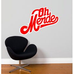 Blabla Oh Merde! Wall Decal