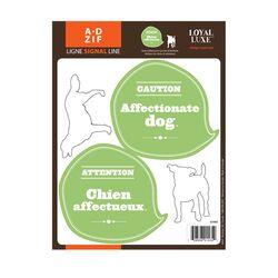 Signal Affectionnate Dog Window Sticker