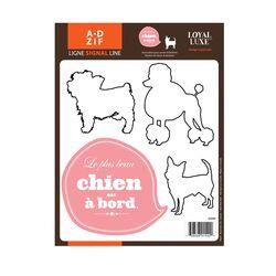 Signal Chien � Board Window Sticker