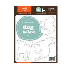 Signal Dog on Board Window Sticker