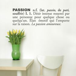 Blabla Passion (French) Wall Decal