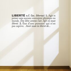 Blabla Libert� (French) Wall Decal