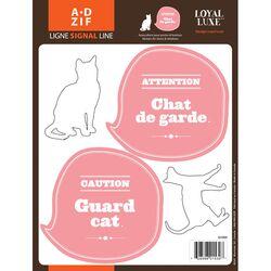 Signal Guard Cat Window Sticker