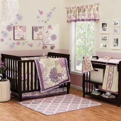 Dahlia 4 Piece Crib Bedding Set