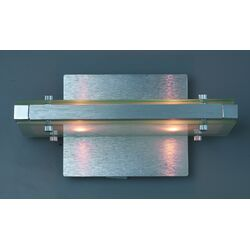 Plano Two Light Wall Sconce in Brushed Aluminum