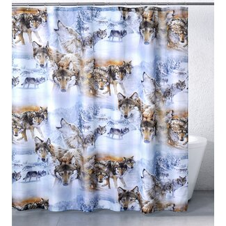 Click to buy Designer Shower Curtains:  Wolves Crossing Shower Curtain from Wayfair!