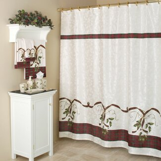 Christmas Shower Curtain Shop Everything Log Homes