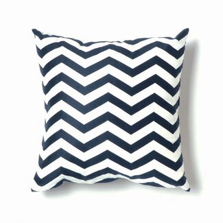Twinkle Living ZigZag Pillow in Navy - P01NW