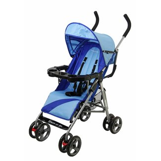 Dream On Me Umbrella Stroller with Child Tray in Blue - 453-B